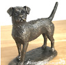 Quality Bronze Border Terrier ornament figurine by Harriet Glen, dog lover gift