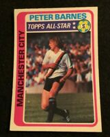TOPPS 1979 FOOTBALL CARD #225 MANCHESTER CITY PETER BARNES  ALL-STAR