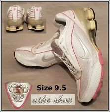 51d7fca4fcc NIKE SHOX Size 9.5 White Pink Silver Running 315966-102 Women s Shoes  Sneakers