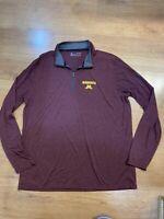 Under Armour Minnesota Golden Gophers Long Sleeve Quarter Zip Shirt Size XL
