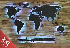 Weltkarte aus Holz mit Ländergrenzen Bausatz Wandbild XXL 1700mm x 1100mm