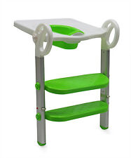 Toilet Step Trainer for Kids 2 Ladders Aluminium Alloy Standing, Green