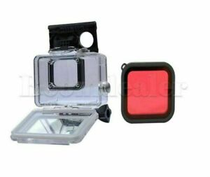 For Gopro Hero 5 45M Waterproof Protective Housing Case+ Red Diving Filter Lens