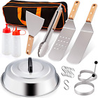 Griddle Accessories Set of 16 Stainless Steel For Cast Iron Flat Hibachi Cooking