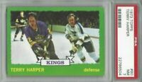 1973 Topps hockey card #80 Terry Harper, Los Angeles Kings graded PSA 7