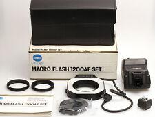 Minolta Macro Flash 1200AF Set