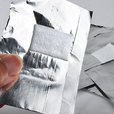 100* Foil Nail Art Soak Off Salon Acrylic Gel Polish Nail Glitter Removal Wraps