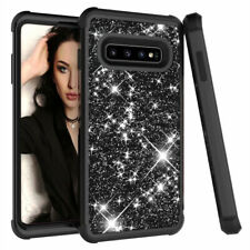Bling Shockproof Heavy Duty Armor Hybrid Rubber Case Cover Fits Samsung S10 Plus