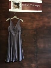 NWT Beautiful Anne Klein Lilac Sleeveless With Beading v-neck 8 Silk