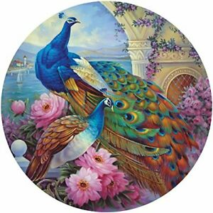 Bits and Pieces - 500 Piece Round Jigsaw Puzzle for Adults - Marvelous Garden...