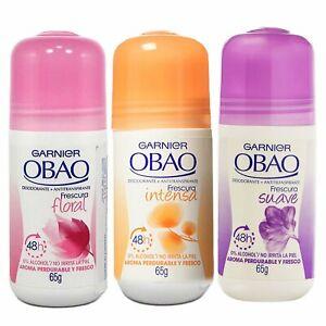 Ladies Garnier OBAO Fragrant Deodorant Skin Antiperspirant Roll On For Woman