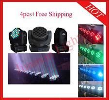 4pcs 36*3W RGBW Led Beam Moving Head Light Led Wash Disco Light Free Shipping