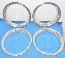 1967 Mustang GT A Fastback Coupe Convert ORIG STYLED STEEL WHEEL TRIM RINGS SET