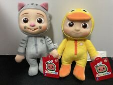 """Cocomelon JJ Kitty & Duckie 8"""" Plush Baby Doll Set of 2 Soft NEW & AUTHENTIC 🔥"""