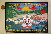 ARBUCKLE COUNCIL OA 190 WISAWANIK CAMP SIMPSON FLAP SWAMP MONSTER JACKET PATCH