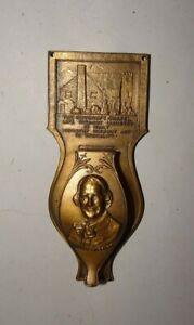 ROYCRAFT CHAPEL ROBBINS CO. ATTLEBORO MASS BRONZE 1920'S SMALL DOOR KNOCKER