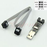Wire AVR Programmer USBasp USB ISP ATMEGA8 Support Win7 64Bit 5V ATMEGA128+6PIN