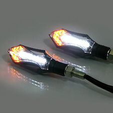 Motorcycle Motorbike Black LED Indicators with Integrated Daytime Running Lights
