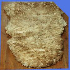 White Natural Leather Fur Woolly Sheep Skin Sheepskin Fireplace Floor Carpet Rug