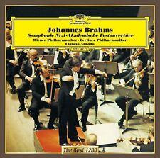CLAUDIO ABBADO-BRAHMS: SYMPHONY NO.1. ACADEMIC FESTIVAL OVERTURE-JAPAN CD C15