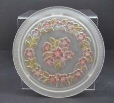 """Vintage Frost Cake Sandwich Foot Serving Platter Plate By Century Glass 11 1/2"""""""