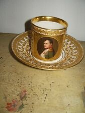 KPM Napoleon Reliev Tasse Handgemaltes Bild