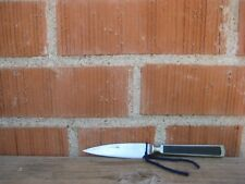 "Vintage 3 1/4"" Blade *** GOODELL COMPANY *** Carbon Paring Knife Wood Inlay USA"