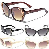 Giselle Ladies Cat Eye Retro Vintage Sunglasses Floral Baroque Women Glasses New