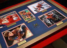 SPIDER-MAN Autograph set STAN LEE, HOLLAND, MACGUIRE, HAMMOND, Frame, COA, UACC