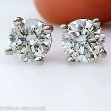 2/5 Carat Natural Round DIAMOND 14 Karat  WG STUD EARRINGS VS G/H