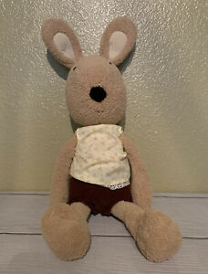 Le Sucre Tan Rabbit Bunny Wearing Floral Tank Top & Corduroy Shorts Plush