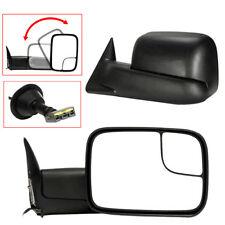 Left+Right For 1994-97 Dodge Ram 1500 2500 Tow Extend Flip Up POWER Side Mirrors
