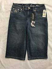 Style & Co Skimmer Shorts Size 4 Flap Pocket Studded Below Knee Stretch NWT