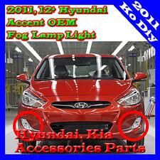 Fog Lamp Light  Connectors OEM Parts For 12 13 14 15  2011 2012+ Hyundai Accent
