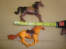 TWO (2) 1/32 G-SCALE HORSES FOR WESTERN OR CORRAL SCENE , 1 STANDING, 1 RUNNING