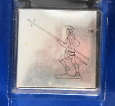 Prince August Tin Toy Soldier Lead w pike raised mold number 19 in the sereis