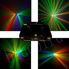 New Daul RGY+GVW 280mW DMX 512 Laser Light DJ holiday laser lighting show