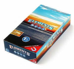 ELEMENTS 1 1/4 Ultra thin Rolling paper with MAGNETIC CLOSURE x 25 = 1250 papers