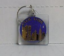 New York, City Skyline, Square Plastic Keychain by City Merchandise, BRAND NEW