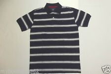 TOMMY HILFIGER BOYS NAVY MULTI STRIPE POLO SHIRT X-LARGE (16/18) NEW WITH TAG