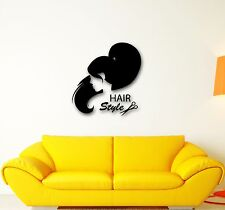 Wall Stickers Vinyl Decal Sexy Girl Hair Style Scissors Barbershop (ig678)