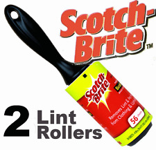 2 x Lint rouleaux Scotchbrite Collant Collant Rouleaux Jumbo Taille Nouveau Fluff Bits
