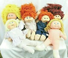 """""""VINTAGE"""" Cabbage Patch Dolls + Blue-Box Doll Plush Body, Rubber Head Lot of 6"""