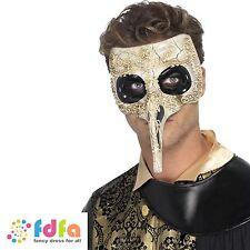 VENETIAN HALLOWEEN PLAGUE DOCTOR MASK MASQUERADE BALL - mens fancy dress costume