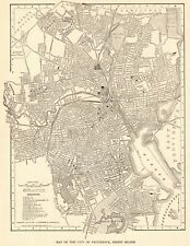 1914 Antique Providence Street Map City Map of Providence Rhode Island 8391
