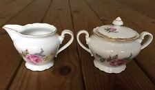 Fine Bohemian China made in Czechoslovakia vintage collection creamer sugar bowl