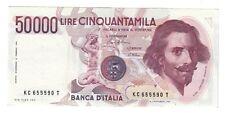 50000 lire gian lorenzo bernini I° tipo serie C 1986 sup taglietto lotto.1599