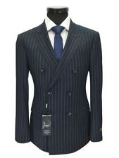 Wool Blend Striped Double Suits & Tailoring for Men