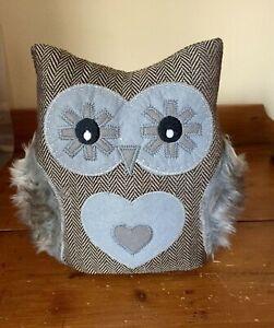 Owl Door stop, Brown & Grey by Damart