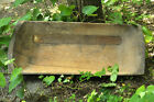 HUGE 41  ANTIQUE PRIMITIVE FARM WOODEN CARVED BREAD DOUGH BOWL TROUGH TRENCHER